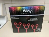 Mickey Mouse Pathway Stakes Lights Disney Christmas LED Color Changing nib