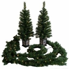 Holiday Time Christmas Decor Pre-Lit 5-Piece Entryway Set, Clear Lights wm5 m01
