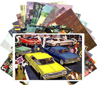 Postcards Pack [24 cards] Classic American Cars Sixties Adverts Vintage CD3038