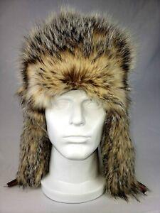 Men's Badger Fur Trapper Hat.  Size XL/L