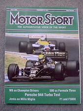 Motor Sport (May 1986) Porsche 944 Turbo, Rover 216 Vitesse, Spain & Brazil GPs