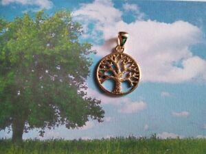 Tree of Life pendant made Yellow Gold 18 K- artisan product