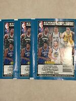 Lot of 3 2019 Serial #'d Limited Panini basketball stickers and card collection.