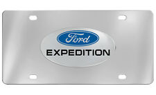 Ford Expedition Chrome Plated Stainless Steel Decorative Vanity License Plate