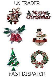 CHRISTMAS BROOCH. XMAS. RUDOLPH. TREE. FAST DISPATCH