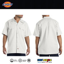 Dickies Work Shirts Men Short Sleeve Button Front Shirt 1574 S - 6XL Solid Color