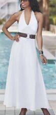 Ashro White Shira Halter Dress Summer Dinner Party Cruise 12 16W 22W 26W PLUS