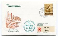 FFC 1965 Swissair First Direct Flight Zurich Dublin Dublino Irland REGISTERED