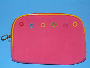 Makeup COSMETIC Accessory Travel CASE Canvas BAG Hot PINK Once Upon a Rose