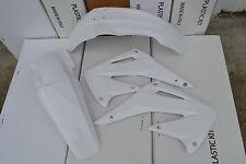 POLISPORT  WHITE PLASTIC KIT CRF450 CRF450R  FENDERS SCHROUDS  2002 2003 2004