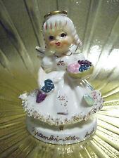 Vintage TMJ November Birthday Girl Angel w/ Original Sticker Figurine