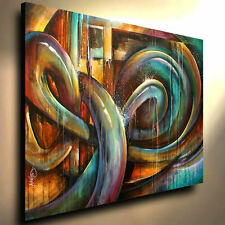 "abstract PAINTING  60"" Contemporary Art DECOR Mix Lang cert. original 'VIDEO'"