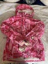 Vtg 90s Grenade Fatigue Project Pink Ski Snowboard Jacket Women M Hooded