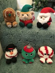 6 Puffkins Limited Edition Christmas Mint with Tags. 1997,99,02