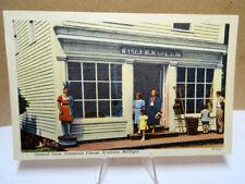 Linen Postcard General Store Elias Brown Greenfield Village Dearborn Michigan MI