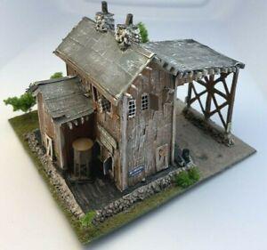 Z Scale Built Diorama Abandoned J & T Boiler Works Handcrafted Handmade