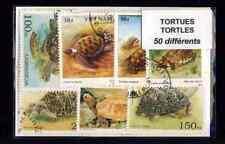 Tartarughe 50 francobolli diversi timbrati