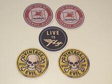 4 x Autolite sticker Chrome//silverblack vintage retro