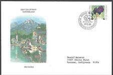 Switzerland Semi Postal Fdc - Pro Patria Violet Hat - European Size - Cacheted!
