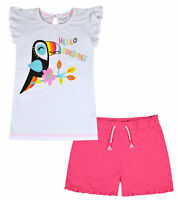 Girls T-shirt and Shorts Set Summer 2 Piece Outfit Kids Age 2 3 4 5 6 7 8 Years