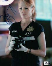 Marg Helgenberger Signed Autographed 8X10 Photo CSI Sexy Holding Camera GV819162