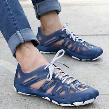 Mens Hollow Out Lace Up Plastic Sandals Summer Beach Water Shoes Slippers Size