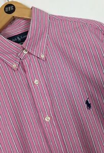 Men's Ralph Lauren Shirt / Large / Custom Fit / Smart / Casual / Stripes