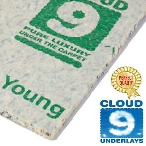low price CLOUD 9 CONTRACT 8mm carpet underlay ANY QUANTITY FREE DELIVERY