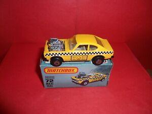 U.S.Issue Matchbox 1-75 #72-Maxi Taxi,Rare Plain Roof,Nr Mint In Orig Box,1982