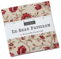 "Moda, Le Beau Papillon, 5"" Charm Pack, Fabric Quilting Squares, 13860PP, SQ47"