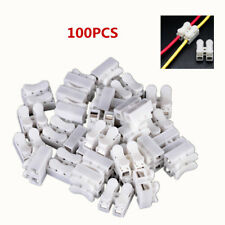 100X ELECTRICAL CABLE CONNECTORS QUICK SPLICE LOCK WIRE TERMINALS SELF LOCKING
