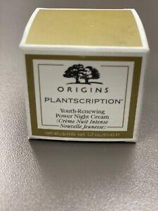 NEW Origins Plantscription Youth Renewing Power Night Cream 1.7 oz/50ml  BNIB