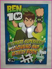 BEN 10 ULTIMATE SUPERHERO  Kids COLOURING & ACTIVIVITY Book - Ben10  NEW - 5yrs+