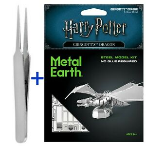 Fascinations Metal Earth Puzzle Gringotts Dragon Harry Potter With FREE TWEEZER!