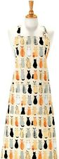 Sitting Cats in Waiting Cotton Drill Apron Ulster Weavers -Post W/wide- 7CAW01