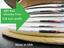 LINCOLN Flexible Universal Chrome Molding 40ft Roll Trim Gard self adhesive