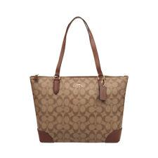 New Women's Coach F29208 Signature Top Zip Tote Bag Purse Handbag