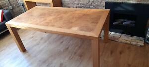 Heals Dining Table in Burr Oak.