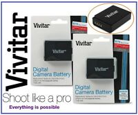 2 Pcs Hi Capacity Vivitar LPE10 Li-Ion Battery for Canon EOS Rebel T3 T5