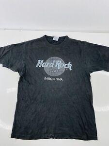 Hard Rock Cafe Barcelona Men's Vintage Short Sleeve Crew T Shirt Size M Black