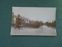 VINTAGE RP CHURCH ROAD ALSAGER - CHESHIRE HORSE AND CART POSTCARD
