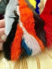 Gilet Gilè Smanicato Donna Ragazza Visone Multicolor Pelliccia Affare Fur Colori