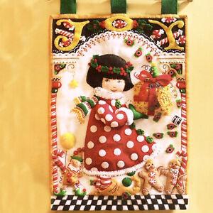 Mary Engelbreit Bucilla Christmas Joy Wall Hanging Felt Applique Kit 85342 12x18