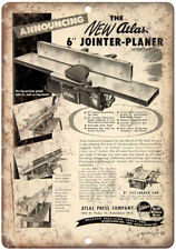 """Atlas Press Company Tools Joint-Planer 10"""" X 7"""" Reproduction Metal Sign Z01"""