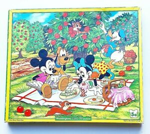 Vintage Disney Waddingtons 35 Piece - Jigsaw Puzzle - 054D Mickey Mouse