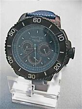 NEW Nautica Men's NST 501 Multifunction Black IP Watch N18644G SR $185