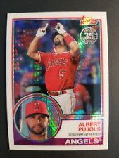 Albert Pujols Los Angeles Angels 2018 Topps Chrome 35th Annv Baseball Card