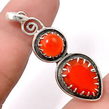 Faceted Carnelian 925 Sterling Silver Handmade Pendant Jewelry SDP42868