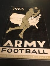 1965 NCAA Football Army Yearbook Media Guide