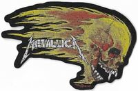 Official Merch Woven Sew-on PATCH Heavy Metal Rock METALLICA Flaming Skull